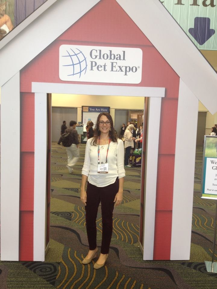 Jenn in the Dog House at Global Pet Expo